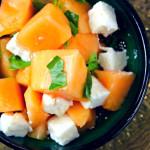 Melon, Basil, Beyaz Peynir Salad